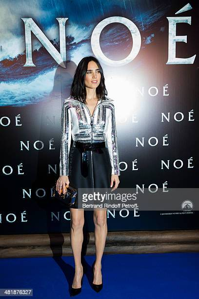 Actress Jennifer Connelly attends the Paris premiere of 'Noah' directed by Darren Aronofsky at Cinema Gaumont Marignan on April 1 2014 in Paris France