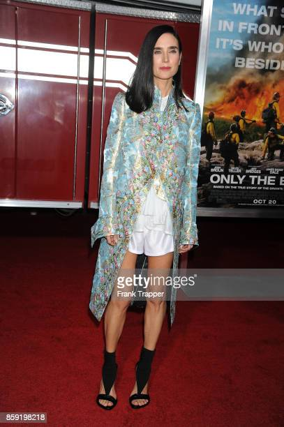 Actress Jennifer Connelly attends the premiere of Columbia Pictures' 'Only The Brave' held at the Regency Village Theatre on October 8 2017 in...