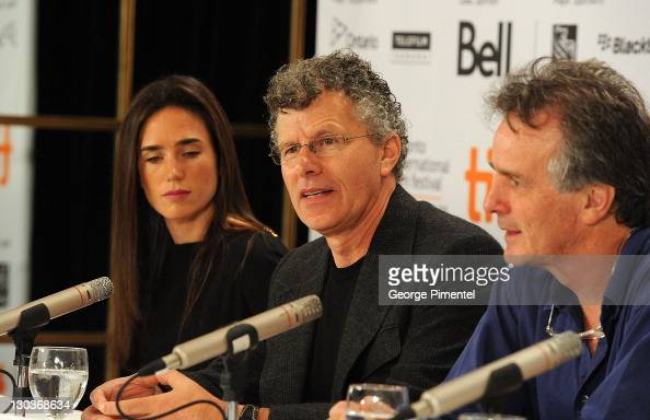 Actress Jennifer Connelly director Jon Amiel and writer John Collee speak onstage at the 'Creation' press conference held at the Sutton Place Hotel...
