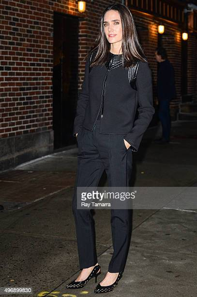 Actress Jennifer Connelly enters the 'The Late Show With Stephen Colbert' taping at the Ed Sullivan Theater on November 12 2015 in New York City