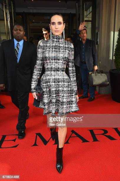 Actress Jennifer Connelly leaves from The Mark Hotel for the 2017 'Rei Kawakubo/Comme des Garçons Art of the InBetween' Met Gala on May 1 2017 in New...