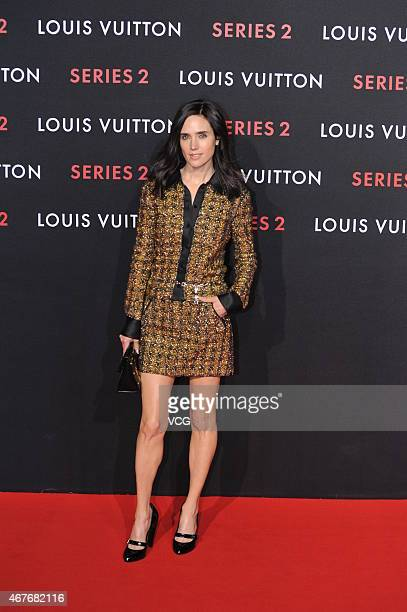 Actress Jennifer Connelly of US attends the opening event of LV 'Series 2' at China World Shopping Mall on March 26 2015 in Beijing China