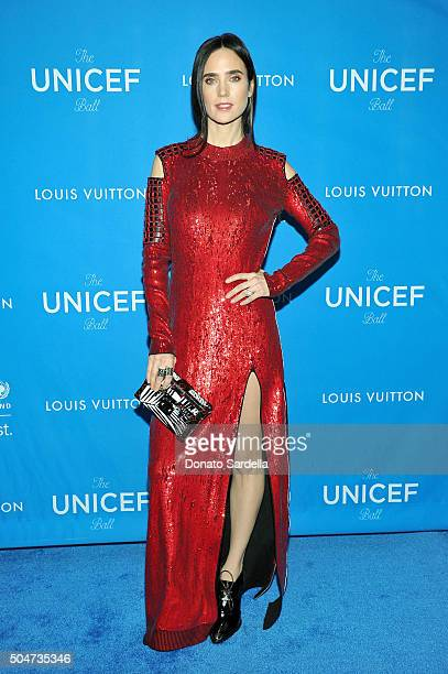 Actress Jennifer Connelly wearing Louis Vuitton attends the Sixth Biennial UNICEF Ball Honoring David Beckham and C L Max Nikias presented by Louis...