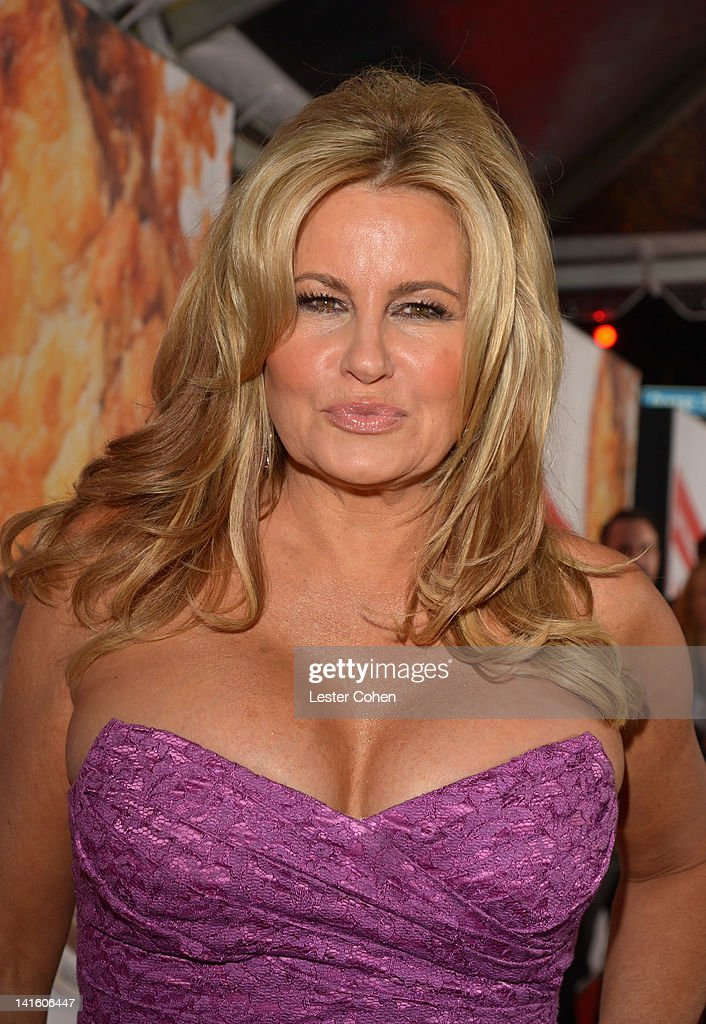 Actress Jennifer Coolidge arrives at the 'American Reunion' Los Angeles Premiere March 19 2012 in Hollywood California