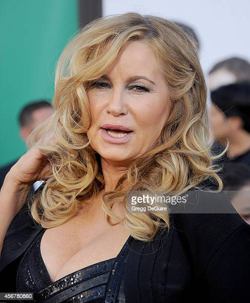 Actress Jennifer Coolidge arrives at the Los Angeles premiere of 'Alexander And The Terrible Horrible No Good Very Bad Day' at the El Capitan Theatre...