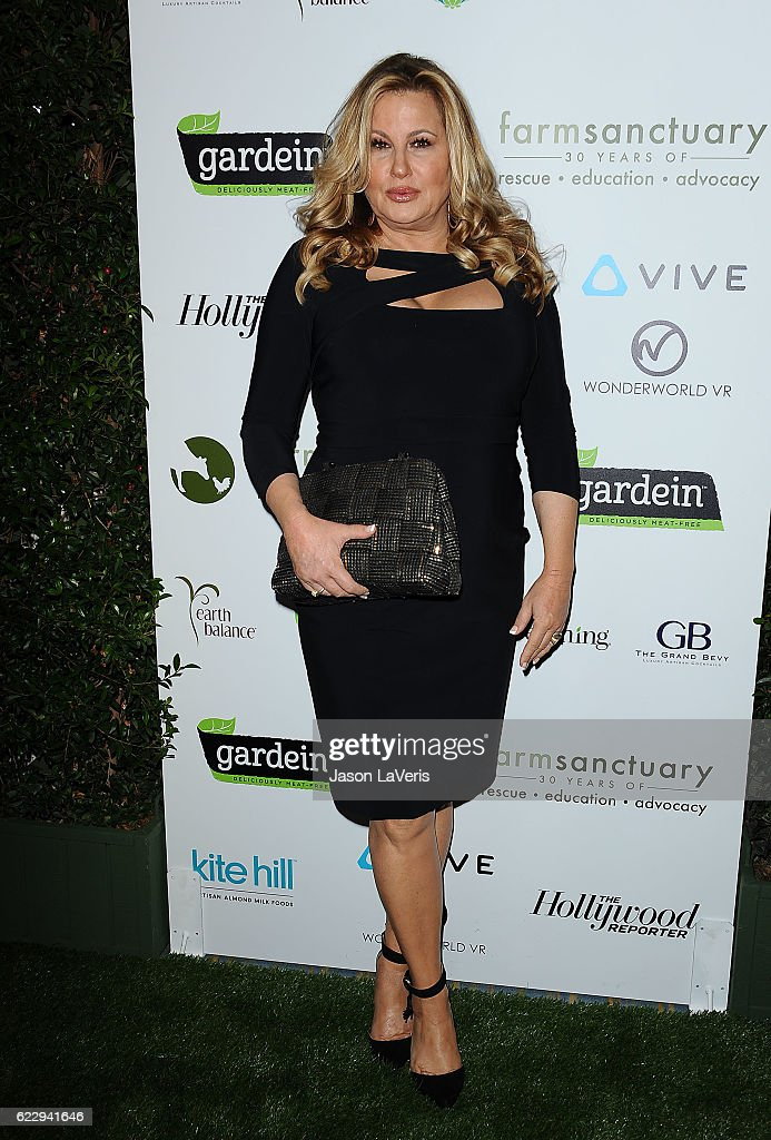 Actress Jennifer Coolidge attends Farm Sanctuary's 30th anniversary gala at the Beverly Wilshire Four Seasons Hotel on November 12, 2016 in Beverly Hills, California.