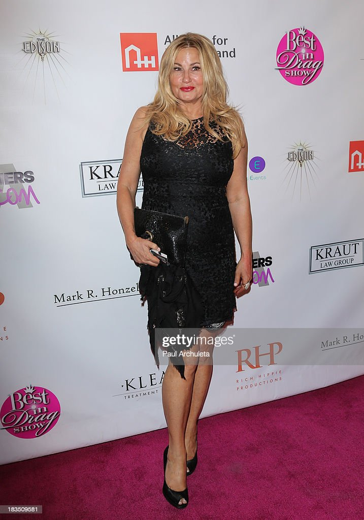 Actress <a gi-track='captionPersonalityLinkClicked' href=/galleries/search?phrase=Jennifer+Coolidge&family=editorial&specificpeople=239149 ng-click='$event.stopPropagation()'>Jennifer Coolidge</a> attends the 11th annual Best In Drag Show at The Orpheum Theatre on October 6, 2013 in Los Angeles, California.