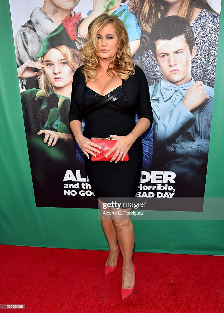Actress Jennifer Coolidge attends The World Premiere of Disney's 'Alexander and the Terrible, Horrible, No Good, Very Bad Day' at the El Capitan Theatre on October 6, 2014 in Hollywood, California.