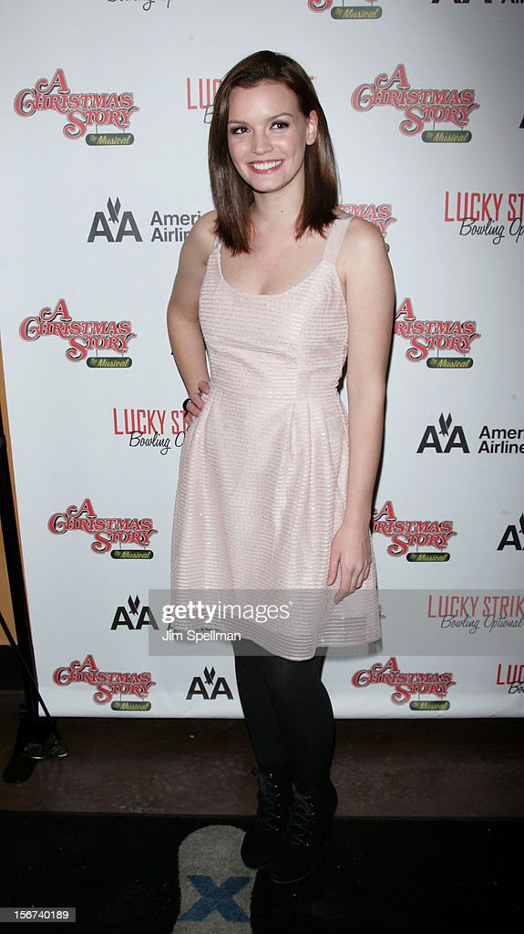 Actress <a gi-track='captionPersonalityLinkClicked' href=/galleries/search?phrase=Jennifer+Damiano&family=editorial&specificpeople=4463350 ng-click='$event.stopPropagation()'>Jennifer Damiano</a> attends 'A Christmas Story: The Musical' Broadway opening night after party on November 19, 2012 in New York City.