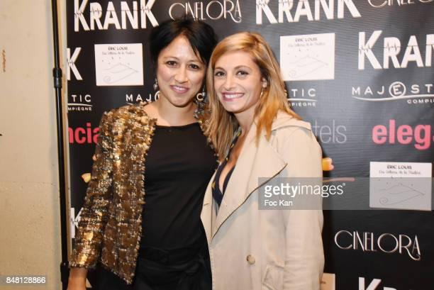 Actress Jennifer Dubourg Bracconi and director Caroline Chu attend 'Krank' Film Screening at Cinema La Clef on September 16 2017 in Paris France