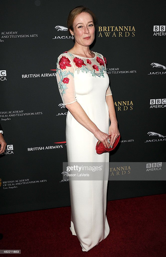 Actress <a gi-track='captionPersonalityLinkClicked' href=/galleries/search?phrase=Jennifer+Ehle&family=editorial&specificpeople=776571 ng-click='$event.stopPropagation()'>Jennifer Ehle</a> attends the BAFTA Los Angeles Britannia Awards at The Beverly Hilton Hotel on November 9, 2013 in Beverly Hills, California.