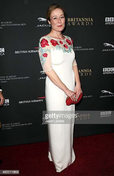 Actress Jennifer Ehle attends the BAFTA Los Angeles Britannia Awards at The Beverly Hilton Hotel on November 9 2013 in Beverly Hills California