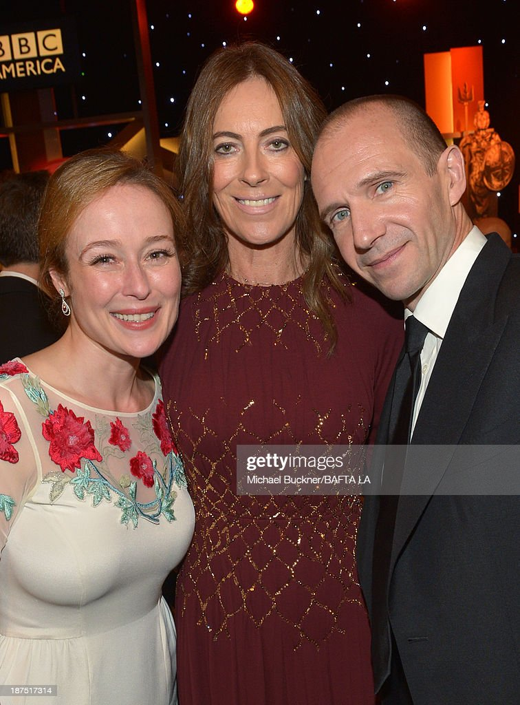 Actress Jennifer Ehle, director Kathryn Bigelow, and actor Ralph Fiennes attend the 2013 BAFTA LA Jaguar Britannia Awards presented by BBC America at The Beverly Hilton Hotel on November 9, 2013 in Beverly Hills, California.
