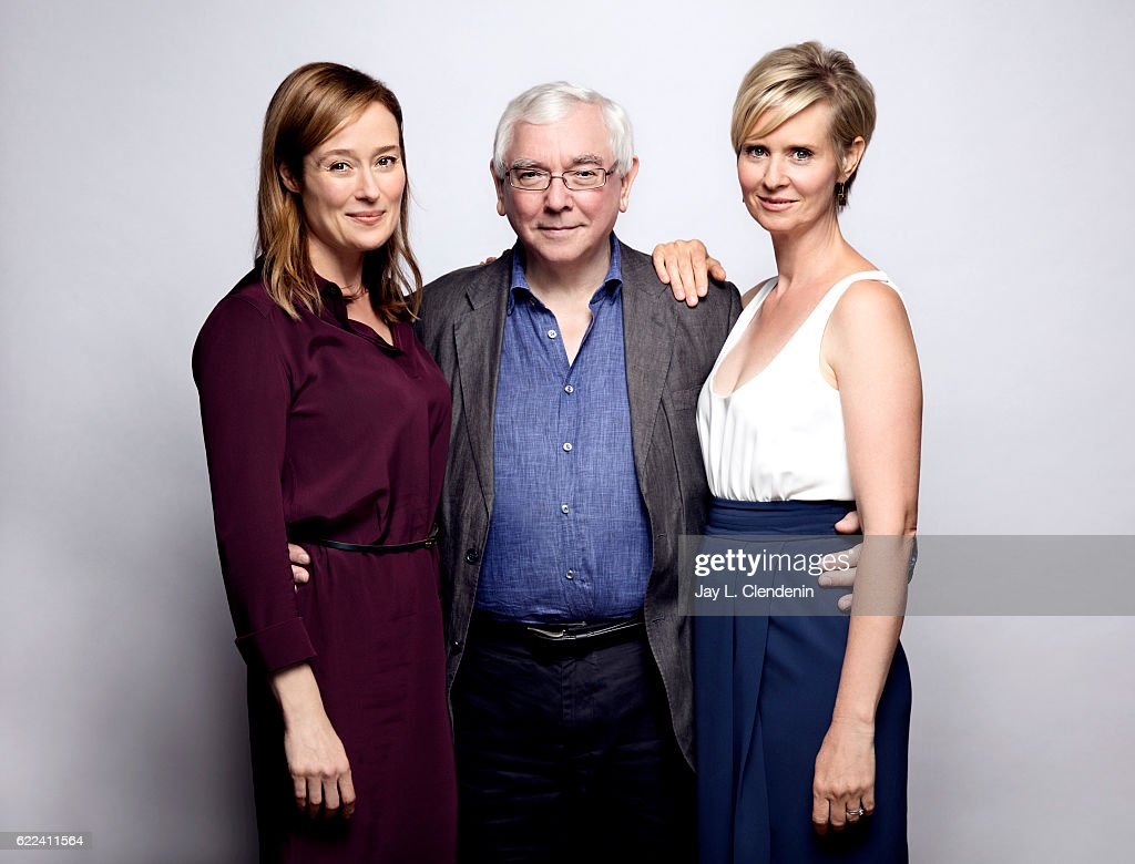 Actress Jennifer Elhe, director Terence Davies, and actress Cynthia Nixon, from the film A Quiet Passion, pose for a portraits at the Toronto International Film Festival for Los Angeles Times on September 12, 2016 in Toronto, Ontario.