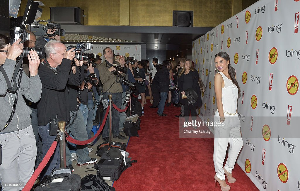 Actress <a gi-track='captionPersonalityLinkClicked' href=/galleries/search?phrase=Jennifer+Freeman&family=editorial&specificpeople=220425 ng-click='$event.stopPropagation()'>Jennifer Freeman</a> arrives at the Los Angeles Premiere of 'Bully' at Mann Chinese 6 on March 26, 2012 in Los Angeles, California.