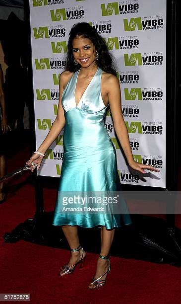 Actress Jennifer Freeman attends the 2004 Vibe Awards on UPN at Barker Hangar November 15 2004 in Santa Monica California
