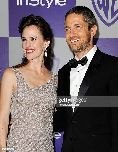 Actress Jennifer Garner and actor Gerard Butler arrive at the InStyle and Warner Bros 67th Annual Golden Globes after party held at the Oasis...