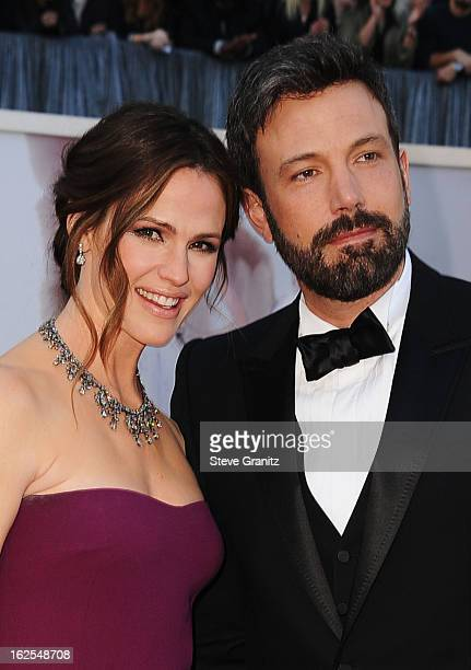 Actress Jennifer Garner and actor/director Ben Affleck arrive at the Oscars at Hollywood Highland Center on February 24 2013 in Hollywood California