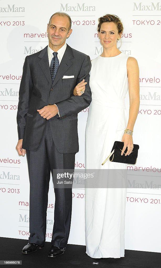 Actress Jennifer Garner and Luigi Maramotti of Charman of Max Mara attend a photocall of Marvelous Max Mara Tokyo 2013 at Ryogoku Kokugikan on November 5, 2013 in Tokyo, Japan.