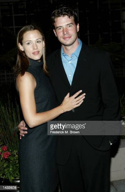 Actress Jennifer Garner and Scott Foley attend the Children's Defense Fund 12th Annual Los Angeles Beat The Odds Awards on September 26 2002 in...