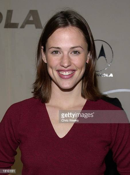 Actress Jennifer Garner arrives at a party thrown by Motorola December 7 2000 in Hollywood CA