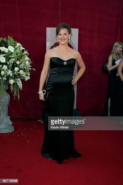 Actress Jennifer Garner arrives at the 57th Annual Emmy Awards held at the Shrine Auditorium on September 18 2005 in Los Angeles California