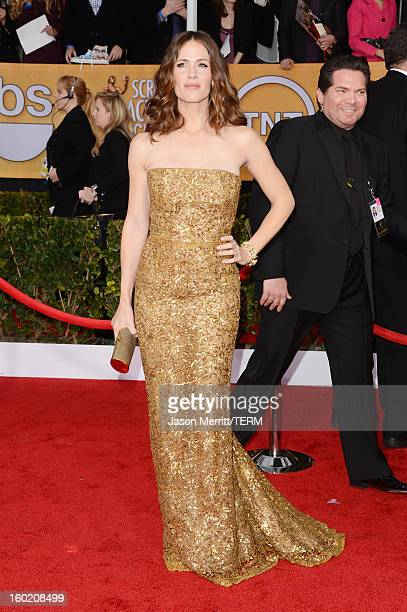 Actress Jennifer Garner attends the 19th Annual Screen Actors Guild Awards at The Shrine Auditorium on January 27 2013 in Los Angeles California...