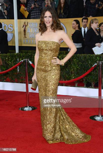 Actress Jennifer Garner attends the 19th Annual Screen Actors Guild Awards at The Shrine Auditorium on January 27 2013 in Los Angeles California