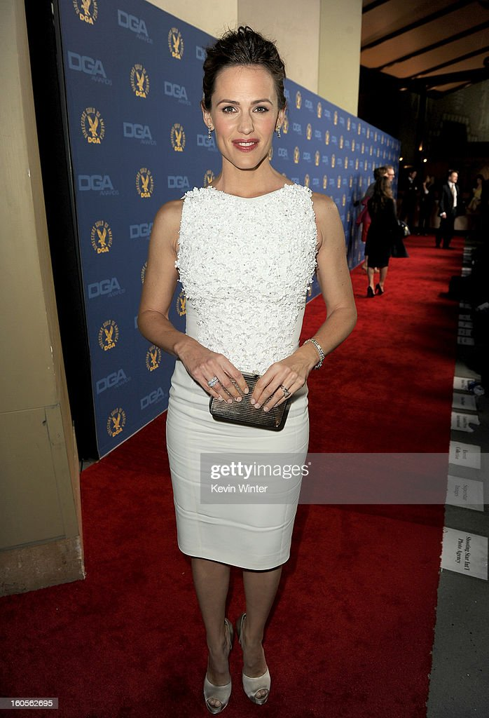 Actress <a gi-track='captionPersonalityLinkClicked' href=/galleries/search?phrase=Jennifer+Garner&family=editorial&specificpeople=201813 ng-click='$event.stopPropagation()'>Jennifer Garner</a> attends the 65th Annual Directors Guild Of America Awards at Ray Dolby Ballroom at Hollywood & Highland on February 2, 2013 in Los Angeles, California.