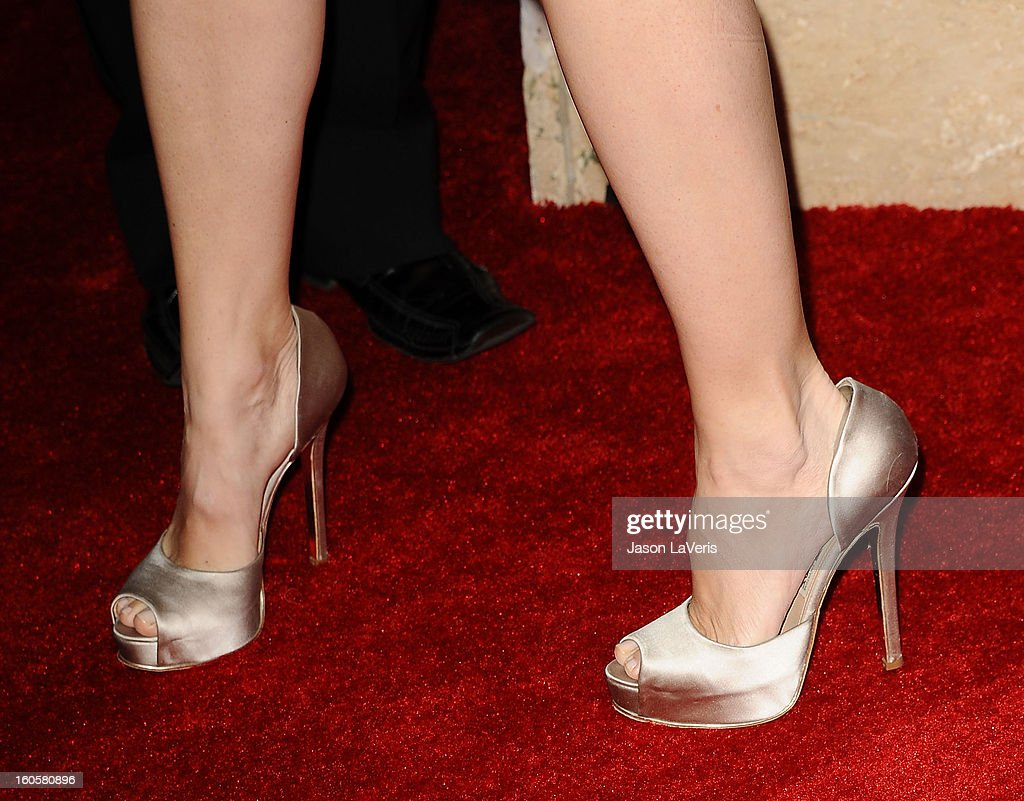 Actress Jennifer Garner (shoe detail) attends the 65th annual Directors Guild Of America Awards at The Ray Dolby Ballroom at Hollywood & Highland Center on February 2, 2013 in Hollywood, California.