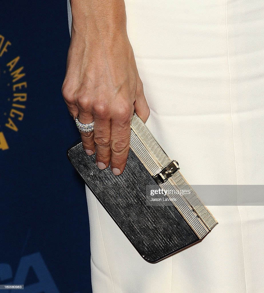 Actress Jennifer Garner (handbag and jewelry detail) attends the 65th annual Directors Guild Of America Awards at The Ray Dolby Ballroom at Hollywood & Highland Center on February 2, 2013 in Hollywood, California.