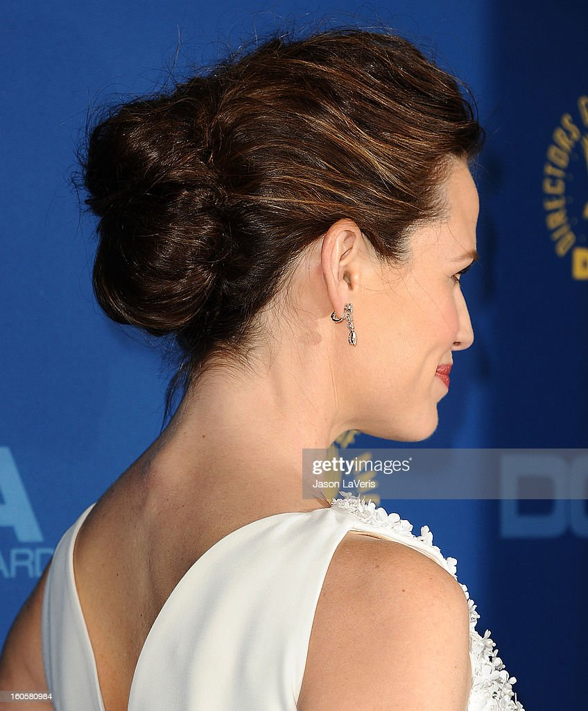Actress Jennifer Garner (hair detail) attends the 65th annual Directors Guild Of America Awards at The Ray Dolby Ballroom at Hollywood & Highland Center on February 2, 2013 in Hollywood, California.