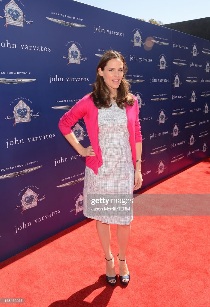 Actress <a gi-track='captionPersonalityLinkClicked' href=/galleries/search?phrase=Jennifer+Garner&family=editorial&specificpeople=201813 ng-click='$event.stopPropagation()'>Jennifer Garner</a> attends the John Varvatos 10th Annual Stuart House Benefit presented by Chrysler, Kids Tent by Hasbro Studios, at John Varvatos Los Angeles on March 10, 2013 in Los Angeles, California.