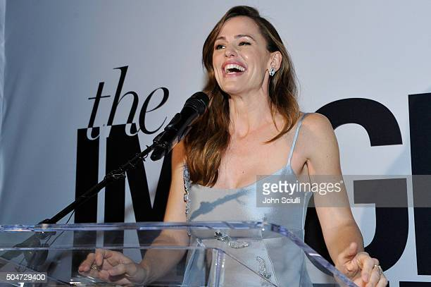 Actress Jennifer Garner speaks onstage during the inaugural Image Maker Awards hosted by Marie Claire at Chateau Marmont on January 12 2016 in Los...