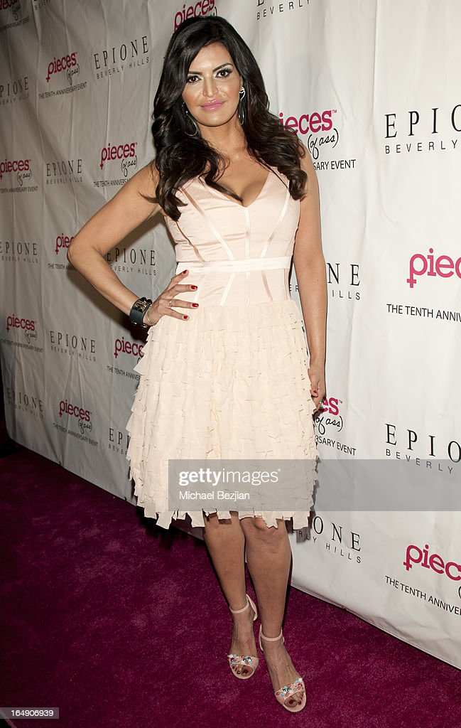 Actress Jennifer Gimenez arrives at 'Pieces(Of Ass)' Opening Night Los Angeles Performance at The Fonda Theatre on March 28, 2013 in Los Angeles, California.