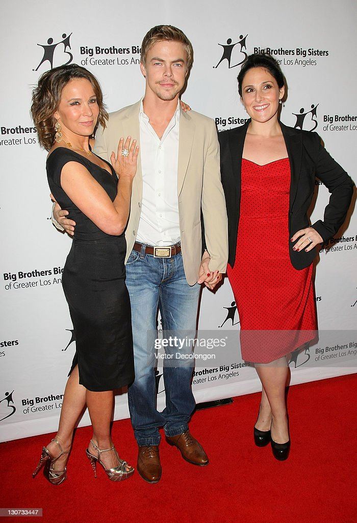 Actress Jennifer Grey, Actor Derek Hough and Guest Host Ricki Lake arrive for The Big Brothers Big Sisters Of Greater Los Angeles' '2011 Rising Stars Gala' at The Beverly Hilton hotel on October 28, 2011 in Beverly Hills, California.