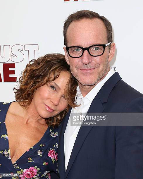 Actress Jennifer Grey and husband actor/director Clark Gregg attend the Los Angeles premiere of 'Trust Me' at the Egyptian Theatre on May 22 2014 in...