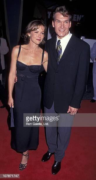Actress Jennifer Grey and Patrick Swayze attend 10th Anniversary Screening of 'Dirty Dancing' on August 20 1997 at the Cineplex Odeon Cinema in...