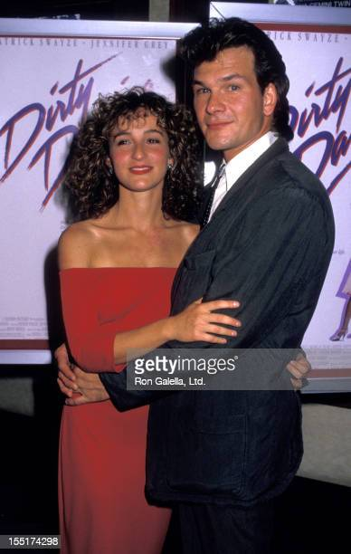 Actress Jennifer Grey and Patrick Swayze attend the premiere of 'Dirty Dancing' on August 17 1987 at the Gemini Theater in New York City
