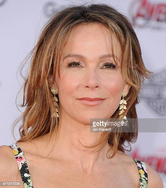 Actress Jennifer Grey arrives at the Los Angeles Premiere Marvel's 'Avengers Age Of Ultron' at Dolby Theatre on April 13 2015 in Hollywood California