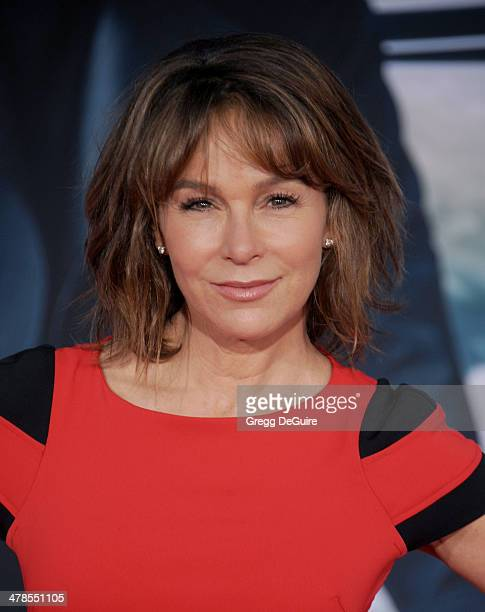 Actress Jennifer Grey arrives at the Los Angeles premiere of 'Captain America The Winter Soldier' at the El Capitan Theatre on March 13 2014 in...