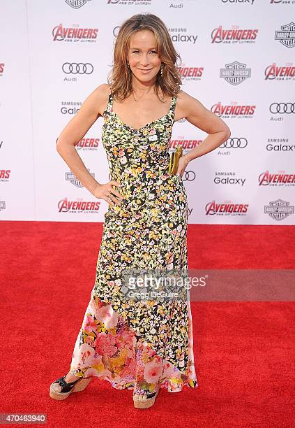 Actress Jennifer Grey arrives at the Los Angeles premiere of Marvel's 'Avengers Age Of Ultron' at Dolby Theatre on April 13 2015 in Hollywood...
