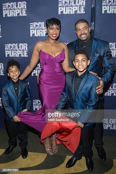 Actress Jennifer Hudson and David Otunga attend the 'The Color Purple' Broadway Opening Night After Party at Copacabana on December 10 2015 in New...