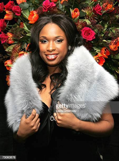 Actress Jennifer Hudson arrives at the after party following the UK premiere of 'Dreamgirls' at the Hayward Gallery on January 21 2007 in London...