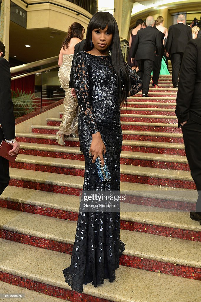 Actress Jennifer Hudson arrives at the Oscars at Hollywood & Highland Center on February 24, 2013 in Hollywood, California.