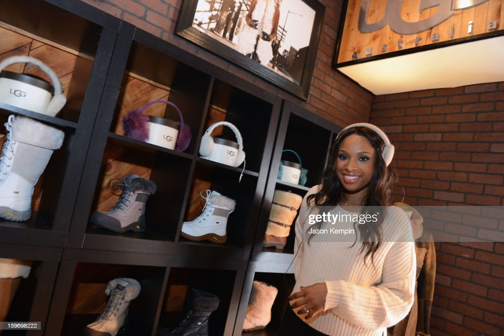 Actress <a gi-track='captionPersonalityLinkClicked' href=/galleries/search?phrase=Jennifer+Hudson&family=editorial&specificpeople=234833 ng-click='$event.stopPropagation()'>Jennifer Hudson</a> attends Day 1 of UGG at Village At The Lift 2013 on January 18, 2013 in Park City, Utah.