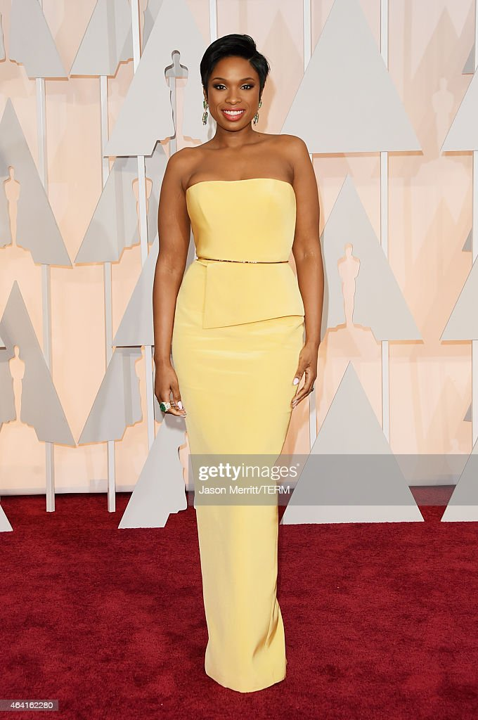 Actress <a gi-track='captionPersonalityLinkClicked' href=/galleries/search?phrase=Jennifer+Hudson&family=editorial&specificpeople=234833 ng-click='$event.stopPropagation()'>Jennifer Hudson</a> attends the 87th Annual Academy Awards at Hollywood & Highland Center on February 22, 2015 in Hollywood, California.