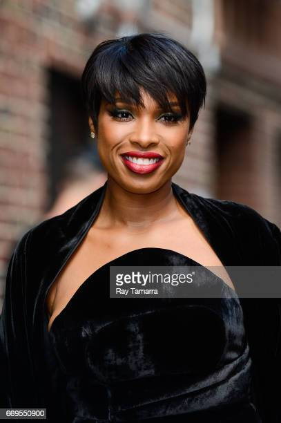 Actress Jennifer Hudson enters the 'The Late Show With Stephen Colbert' taping at the Ed Sullivan Theater on April 17 2017 in New York City