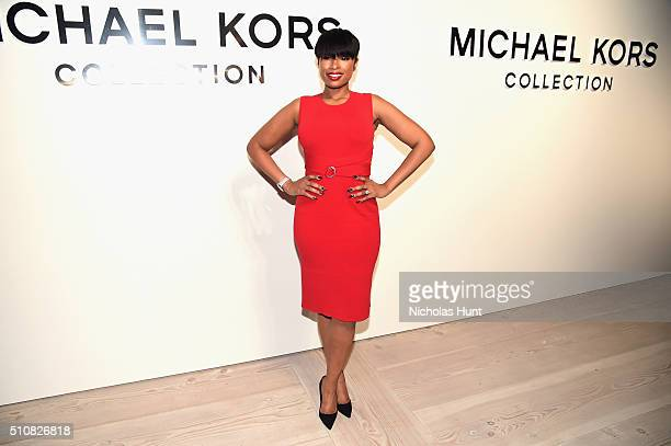 Actress Jennifer Hudson poses backstage at the Michael Kors Fall 2016 Runway Show during New York Fashion Week The Shows at Spring Studios on...