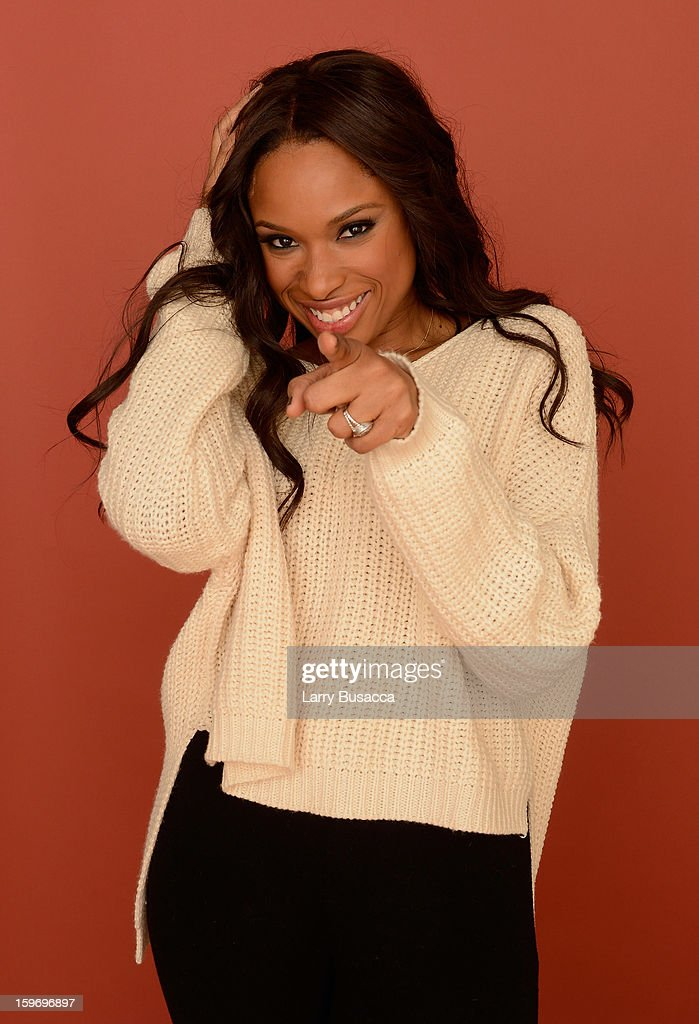 Actress <a gi-track='captionPersonalityLinkClicked' href=/galleries/search?phrase=Jennifer+Hudson&family=editorial&specificpeople=234833 ng-click='$event.stopPropagation()'>Jennifer Hudson</a> poses for a portrait during the 2013 Sundance Film Festival at the Getty Images Portrait Studio at Village at the Lift on January 18, 2013 in Park City, Utah.